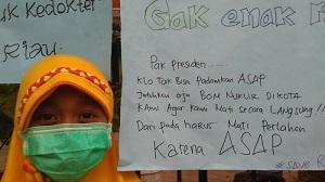 EDAN !!! Bocah SD ini Minta Pak Jokowi Jatuhkan Bom ATOM