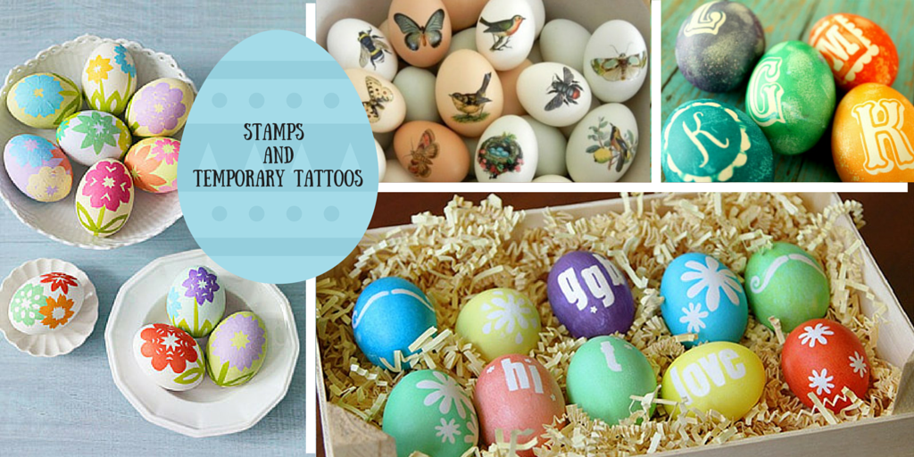 Easter eggs with stamps