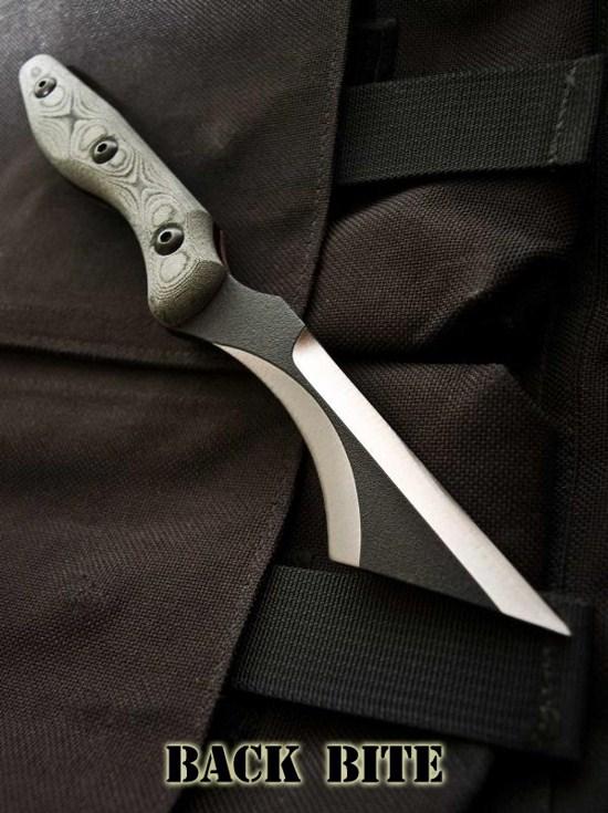 engravable pocket knives BACK BITE