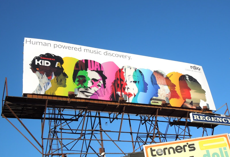 Rdio Human powered music discovery billboard