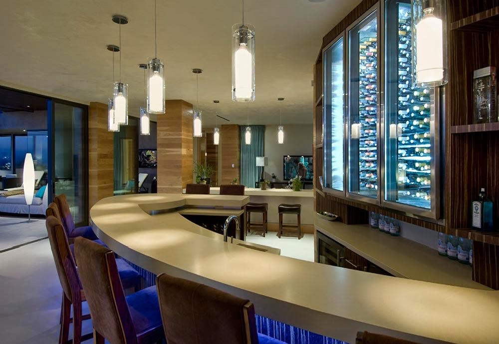 Dise o interior blue jay residence lori dennis - Bar en casa decoracion ...
