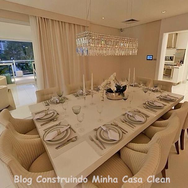 Qual Lustre Usar Na Sala De Estar ~  Minha Casa Clean Qual Lustre ou Pendente Usar na Sala de Jantar