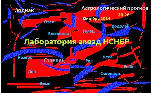 Лаборатория звезд НСНБР. Астрологический прогноз с 20.10.14. по 26.10.14. Гороскоп. Зодиак. Автор фото композиции председатель НСНБР А.Г.Огнивцев.