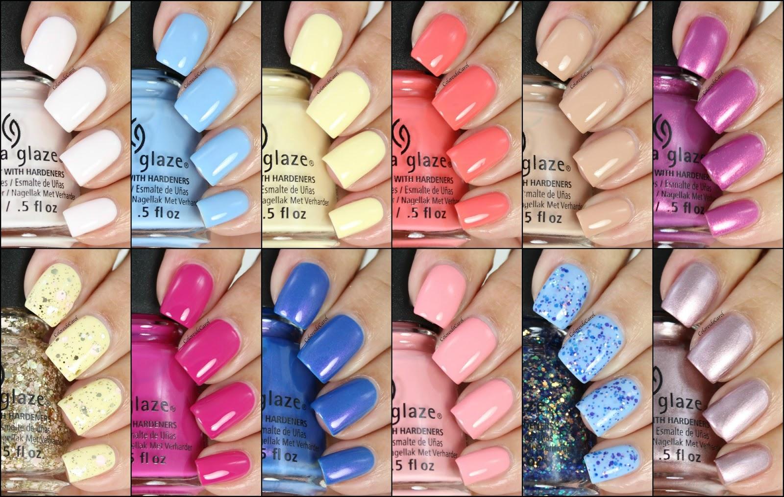Colores de Carol: China Glaze House Of Colour, Spring 2016. Swatches ...