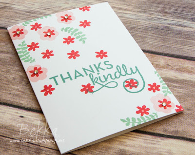 Floral Thank You Card made using Stampin' Up! UK Supplies - see them here