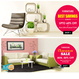 Snapdeal : Buy Furniture upto 60 % off + upto 30% off