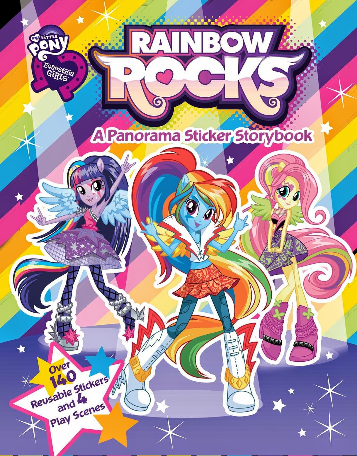 rainbow rocks panorama sticker storybook cover revealed. Black Bedroom Furniture Sets. Home Design Ideas