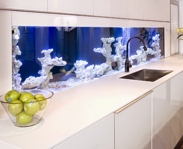 Modern Aquarium Kitchen With a Strong Visual Impact by Darren Morgan