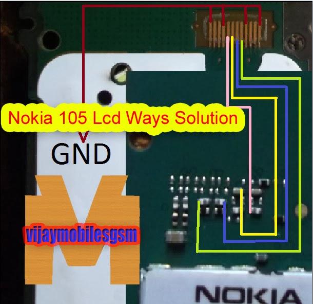 VIJAY MOBILES: Nokia 105 all solution