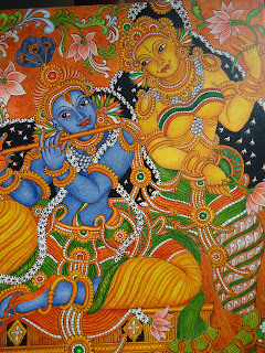 Mural paintings mural painting krishna radha for Mural radha krishna