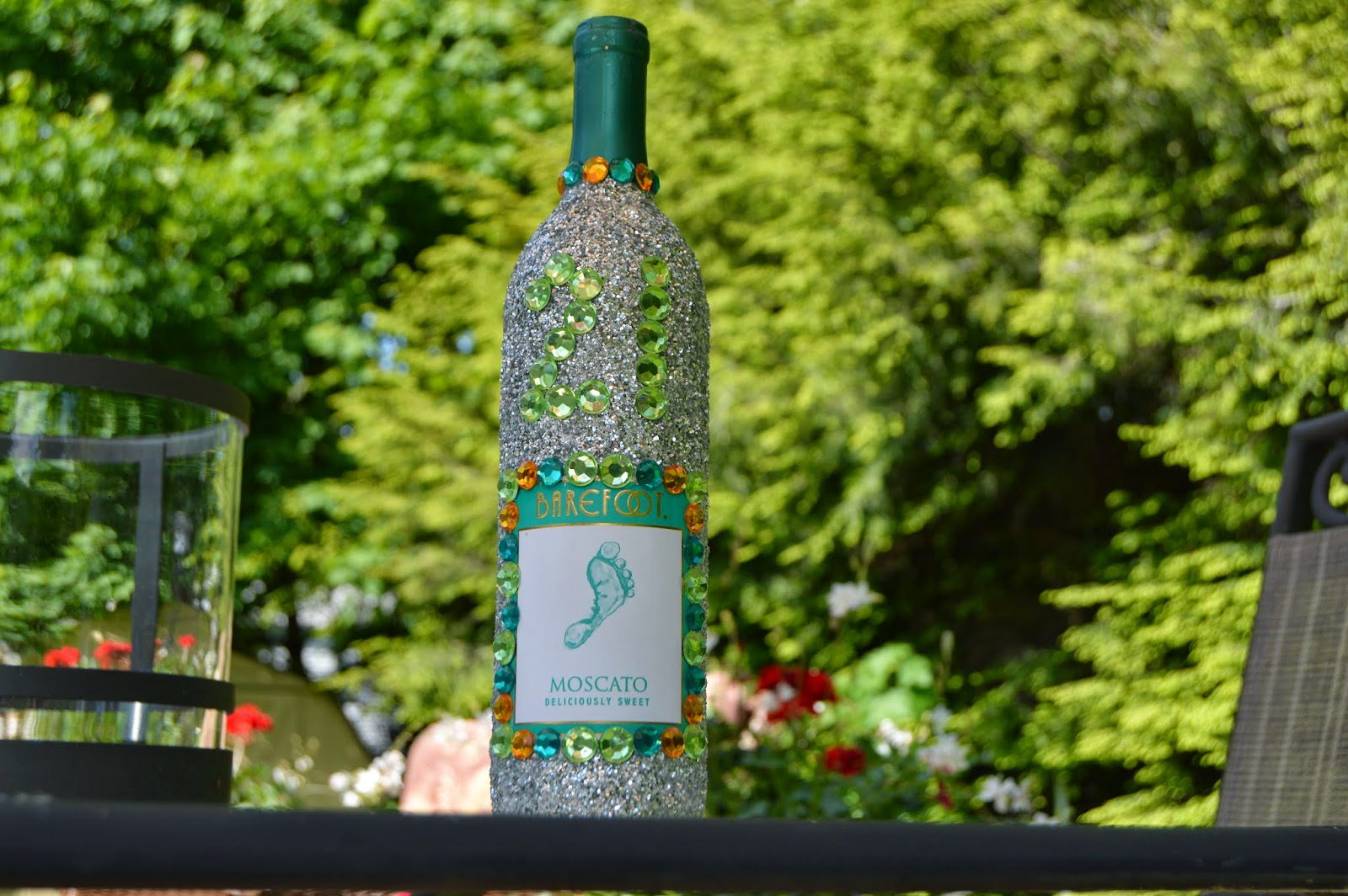 The perks of being elise diy glitter wine bottle for How to decorate a bottle with glitter