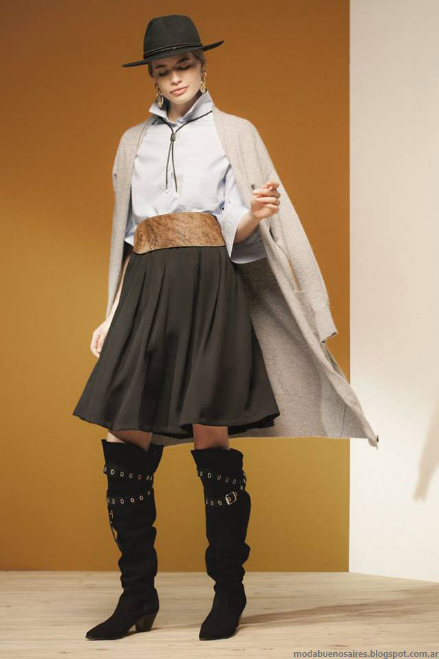 María Cher otoño invierno 2016 faldas. Moda otoño invierno 2016.