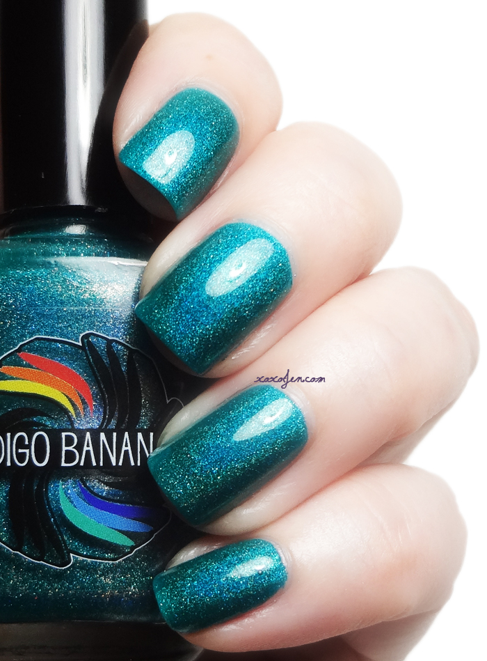 xoxoJen's swatch of Indigo Bananas Shrieking Teals