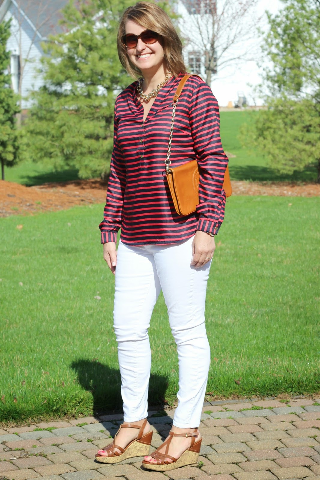 nautical look, red white and blue, spring look, spring outfit
