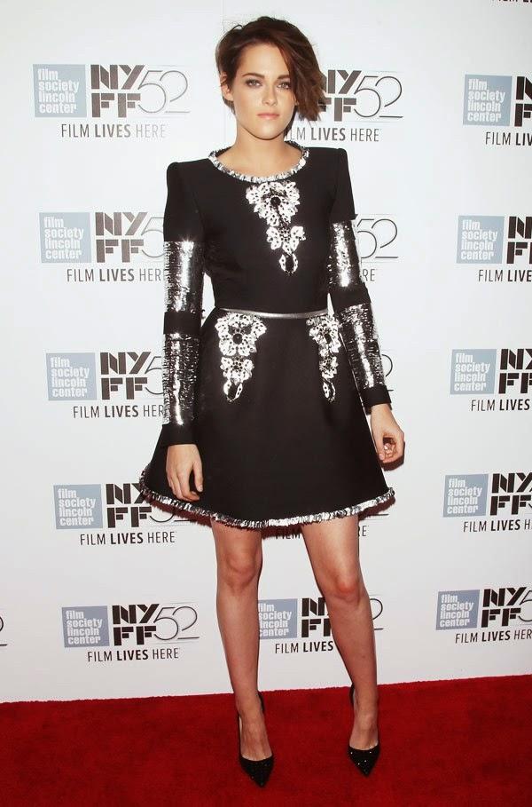 Kristen Stewart, Chanel, Kristen Stewart Chanel, Black, Dress, Jewellery, KStew, movie premiere, clouds