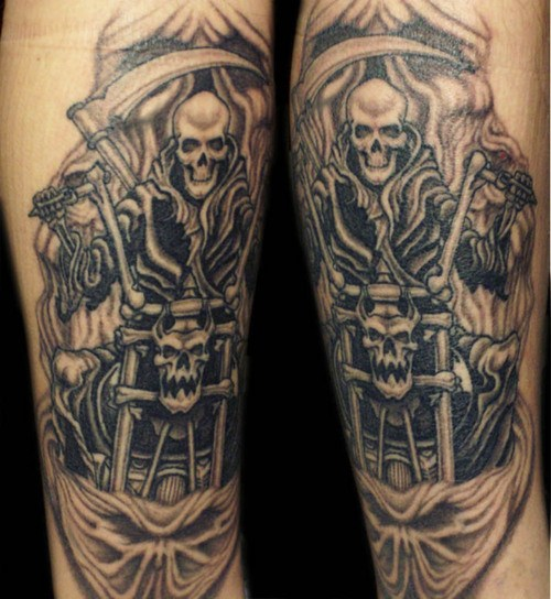 motoblogn the i want a skeleton riding a motorcycle tattoo gallery. Black Bedroom Furniture Sets. Home Design Ideas