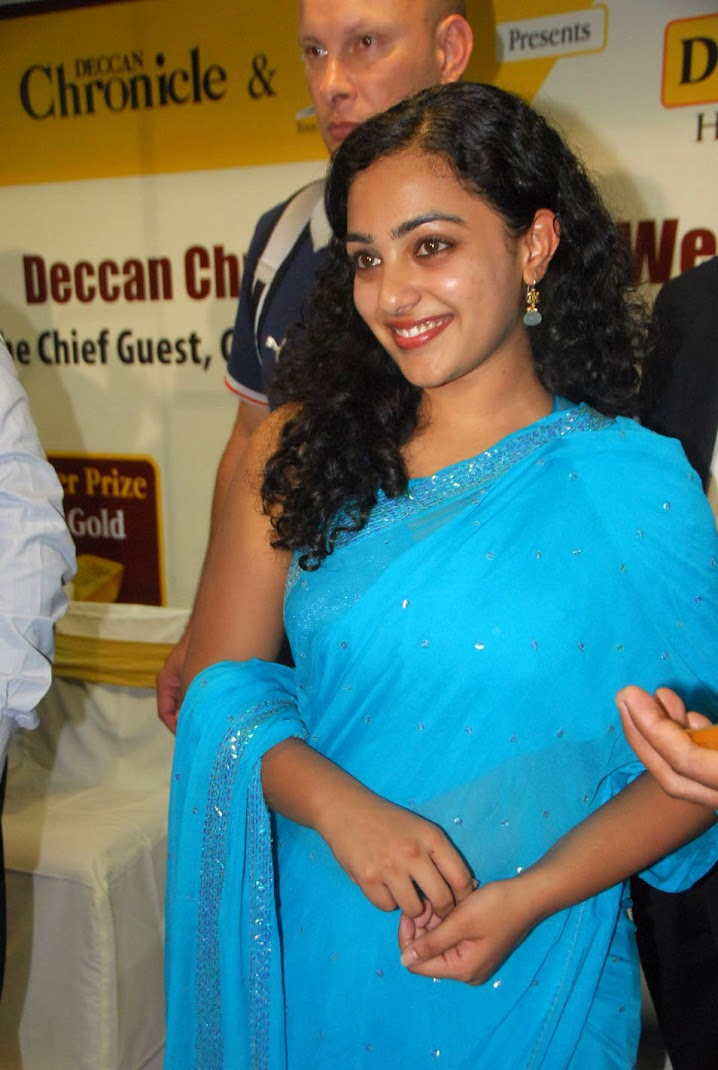 Nithya Menon Stills in Saree