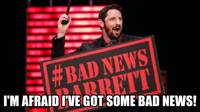Bad News Barrett (Copyright WWE)