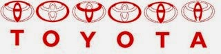 toyota logo letters hidden optical illusion