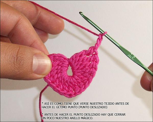 Corazones de Crochet (primer foto-tutorial) - PATRONES VALHALLA ...