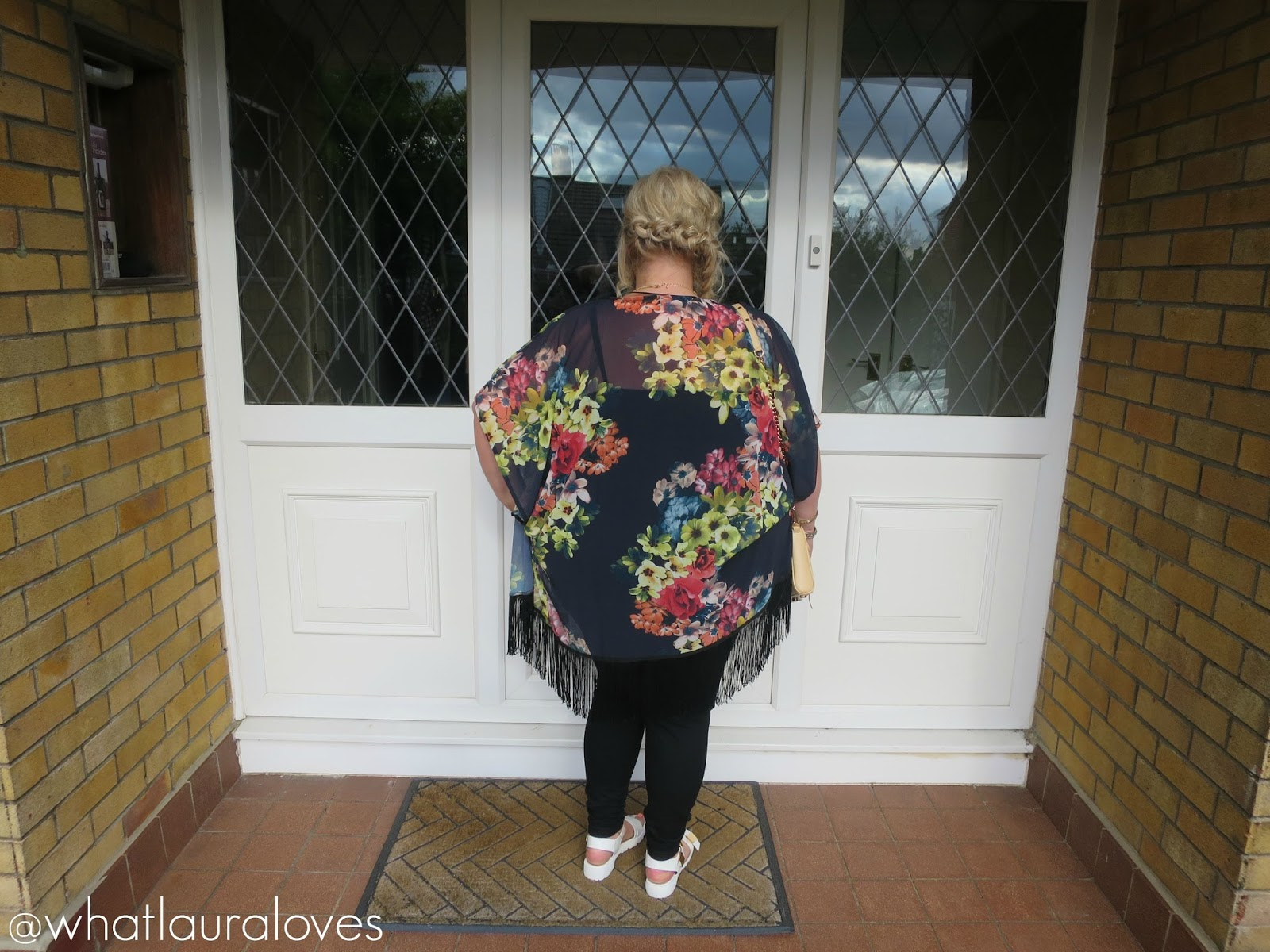 The Butterfly Boutique Navy Floral Kimono