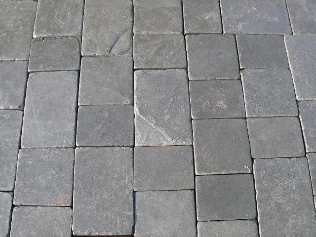 select paving supplies tumbled black limestone pavers. Black Bedroom Furniture Sets. Home Design Ideas
