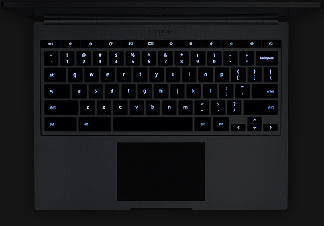 Chromebook Pixel backlit keyboard