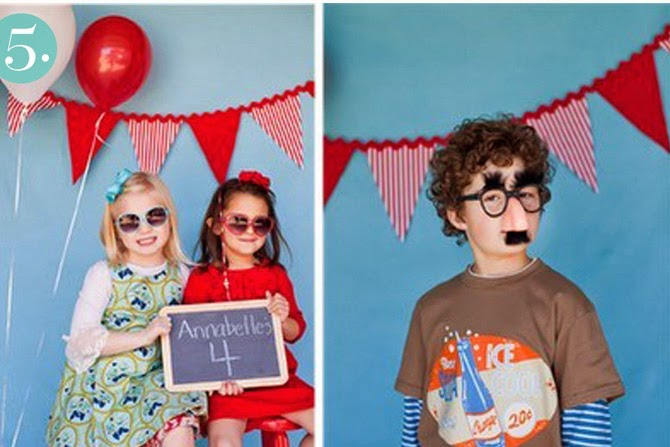 Photo Booth Kids and Garlands