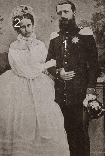 Friedrich I, grand-duc de Bade 1826-1907 et la grande-duchesse Luise de Bade, née princesse de Prusse 1838-1923,