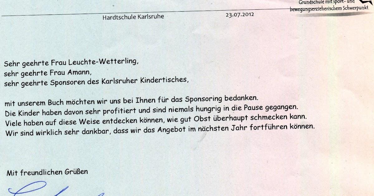 Karlsruher Kindertisch e.V.: DANKE von den Kindern der Hardtschule