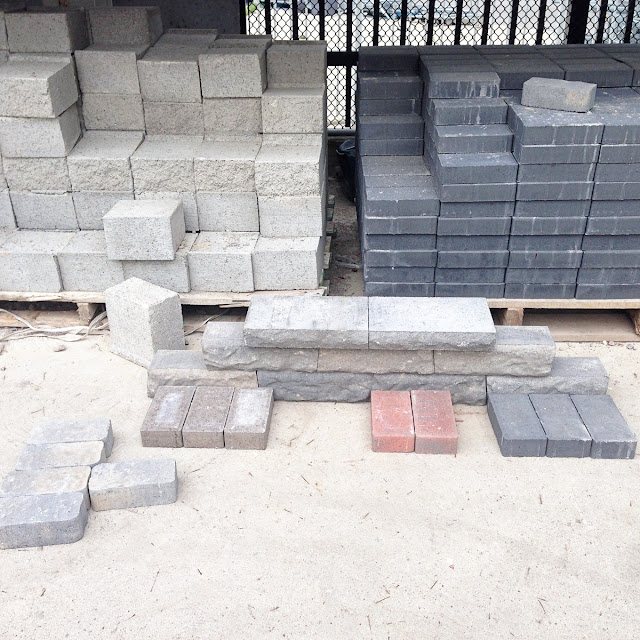 walkway mock up stone paver