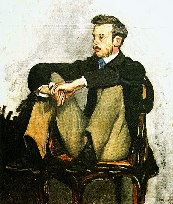 Фредерик Базиль. Портрет Ренуара. 1867.