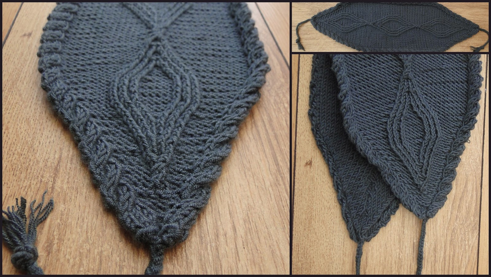 Gray Headband knitting pattern