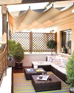 Terraço moderno decorado
