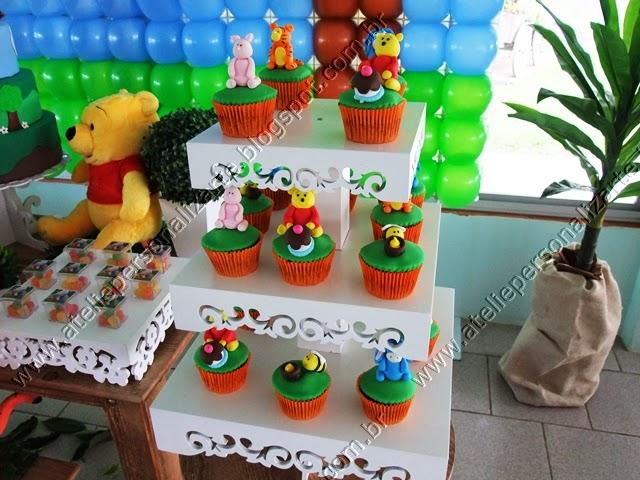 decoracao festa infantil ursinho pooh rústico
