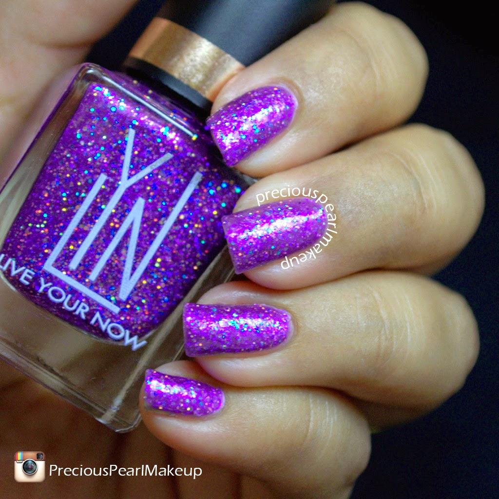 preciouspearlmakeup: LYN Nail Lacquer Purple Pleaser