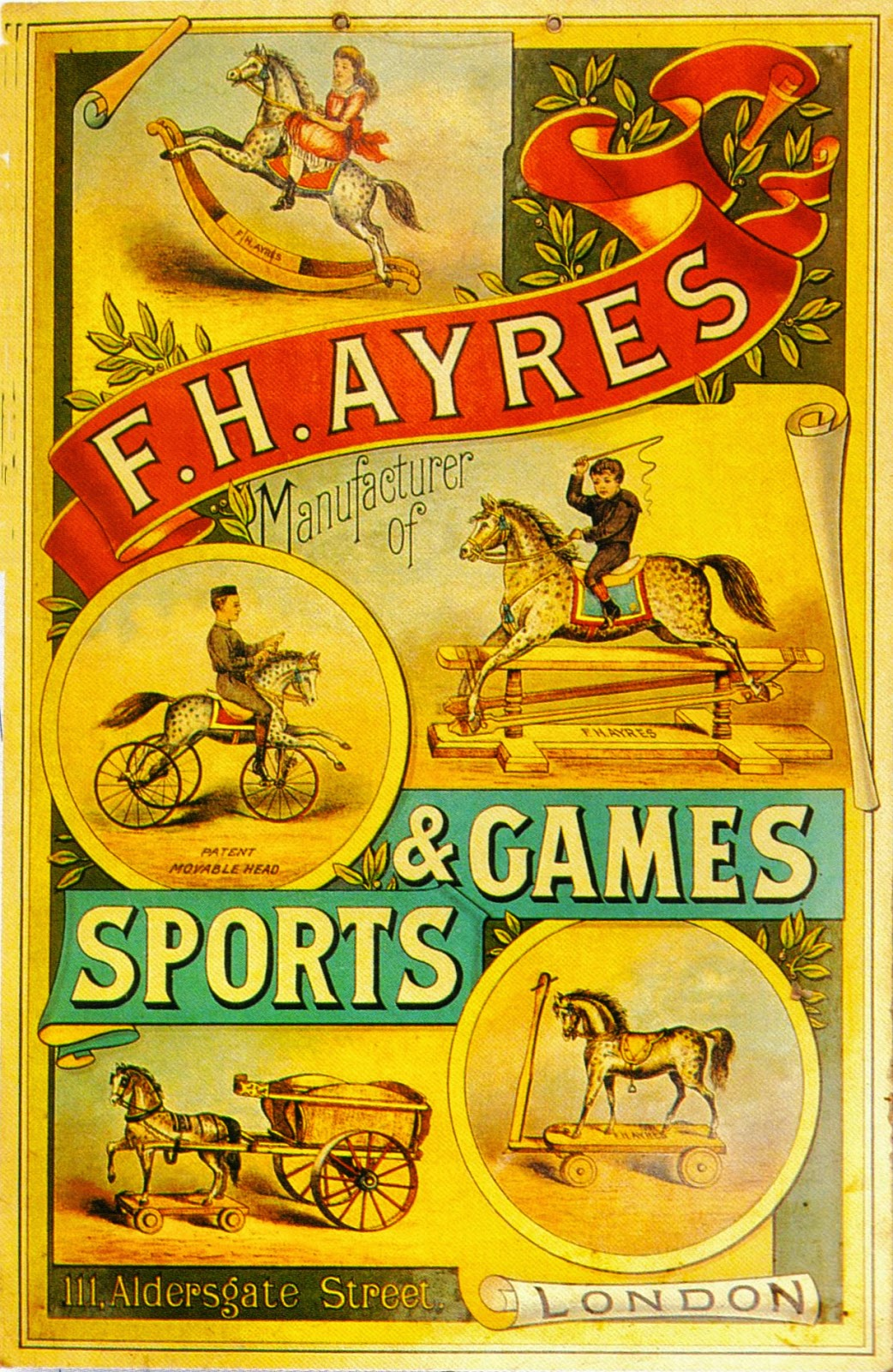 Vintage toy advertisement from late 1800s