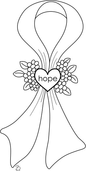Beccy 39 s place breast cancer awareness for Cancer ribbon coloring page