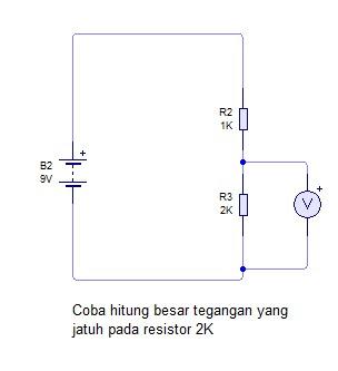 rangkaian percobaan untuk pengukuran tegangan listrik