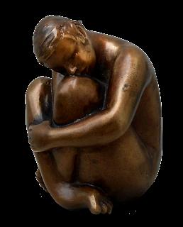 Statue Style figuratif : Jeune fille nue, pudique