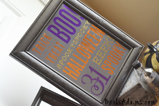 DIY Halloween decor by @jbckadams using the Heidi Swapp Minc machine and gallery prints by @pebblesinc #halloween #DIYHalloween #Pebblesinc #HSMinc #HalloweenDecor