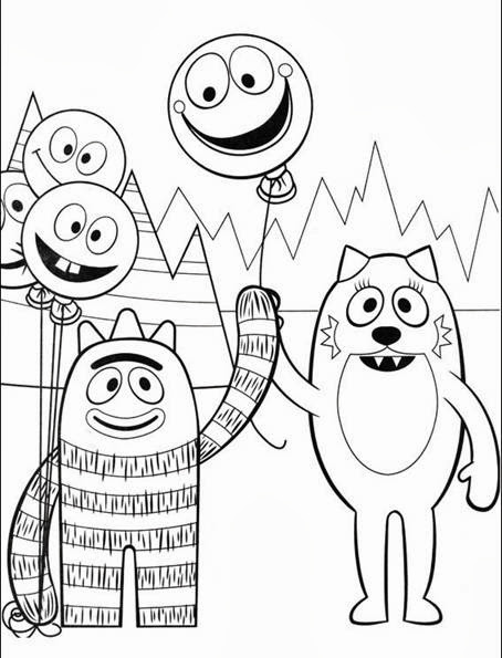 you looking for yo gabba printable coloring pages ?We got it for you title=