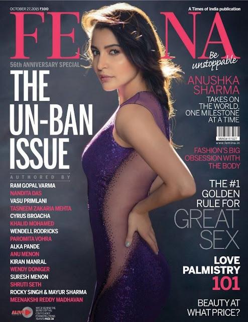 Bollywood Actress Anushka Sharma Femina Pics