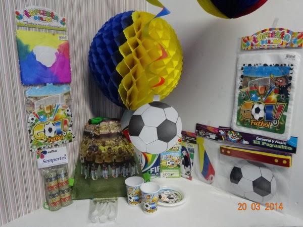 Decoraci n de fiestas infantiles del mundial de futbol for Decoracion deportiva