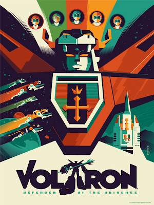 Wizard World Philadelphia Comic Con 2013 Exclusive Voltron Variant Screen Print by Tom Whalen