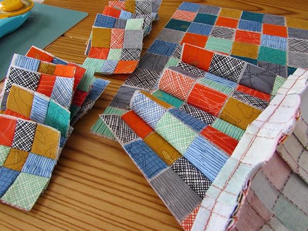 mini scrap grid quilt