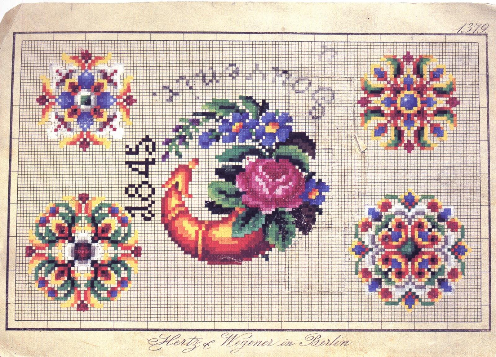 Схемы старинных вышивок бисером 10