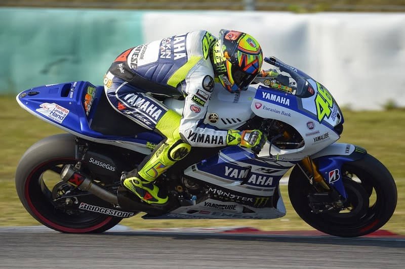 Yamaha Factory Racing Motogp Riders Rossi Lorenzo Report On Day Two Testing At Sepang