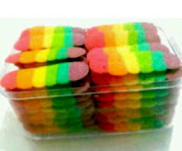 Resep Kue Lidah Kucing Pelangi   (Cake Recipes Lidah Kucing Rainbow Cookies)