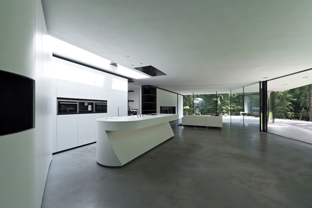 Photo of modern minimalist kitchen interiors